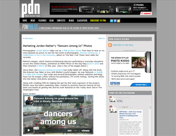 Dancers Among Us in PDN Pulse