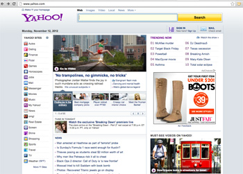 Dancers Among Us on Yahoo Home Page