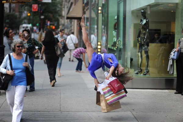 Just Because- Shopping on 5th avenue
