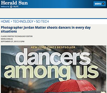 Dancers Among Us in Herald Sun